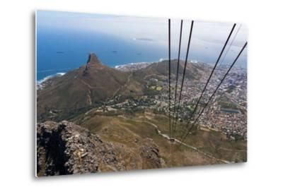South Africa, Cape Town, View from the Table Mountain, Cableway-Catharina Lux-Metal Print