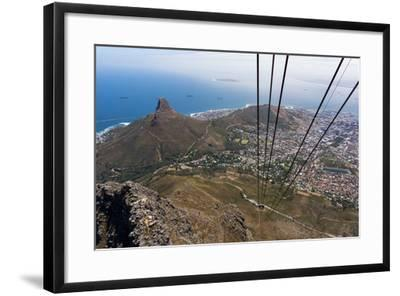 South Africa, Cape Town, View from the Table Mountain, Cableway-Catharina Lux-Framed Photographic Print