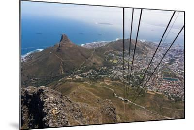 South Africa, Cape Town, View from the Table Mountain, Cableway-Catharina Lux-Mounted Photographic Print