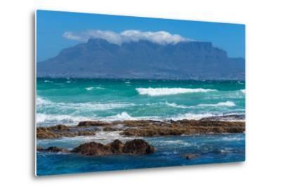Cape Town, Table Mountain, Distant View-Catharina Lux-Metal Print
