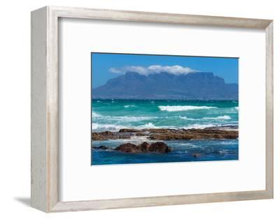 Cape Town, Table Mountain, Distant View-Catharina Lux-Framed Photographic Print