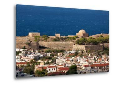 Greece, Crete, Rethimnon, Fortezza, Distant View-Catharina Lux-Metal Print