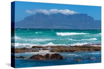 Cape Town, Table Mountain, Distant View-Catharina Lux-Stretched Canvas Print
