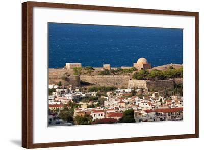 Greece, Crete, Rethimnon, Fortezza, Distant View-Catharina Lux-Framed Photographic Print
