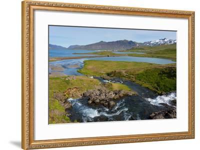 Peninsula Snaefellsnes, Kirkjufjellsfoss-Catharina Lux-Framed Photographic Print