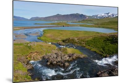 Peninsula Snaefellsnes, Kirkjufjellsfoss-Catharina Lux-Mounted Photographic Print