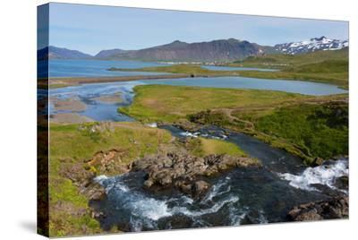 Peninsula Snaefellsnes, Kirkjufjellsfoss-Catharina Lux-Stretched Canvas Print