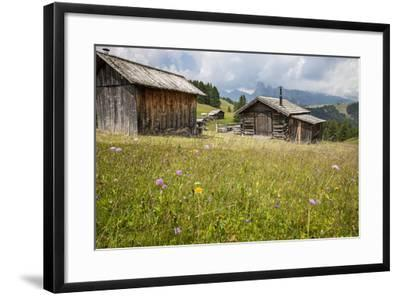 Alpine Huts at the Plateau of the Pralongia, St. Kassian, Val Badia, South Tyrol, Italy, Europe-Gerhard Wild-Framed Photographic Print