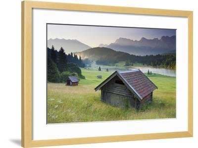 Germany, Bavaria, Lake Geroldsee, Northern Karwendel Range, Huts-Rainer Mirau-Framed Photographic Print