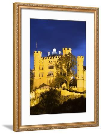 Hohenschwangau Castle, F?ssen, Allg?u, Upper Bavaria, Bavaria, Germany-Rainer Mirau-Framed Photographic Print