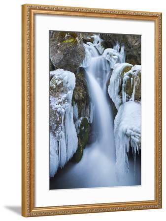 Austria, Lower Austria, Miraf?lle (Waterfall), Winter-Rainer Mirau-Framed Photographic Print