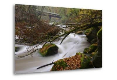 Germany, Rhineland-Palatinate, Eifel, River, Rapids of the Pr?m with Irrel-Andreas Keil-Metal Print