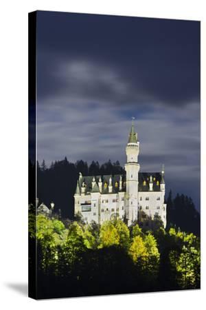 Neuschwanstein Castle, Allg?u, Upper Bavaria, Bavaria, Germany-Rainer Mirau-Stretched Canvas Print