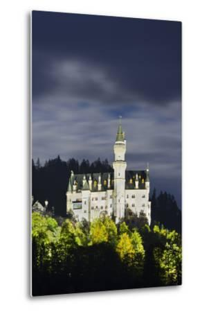 Neuschwanstein Castle, Allg?u, Upper Bavaria, Bavaria, Germany-Rainer Mirau-Metal Print