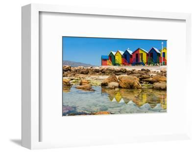 South Africa, Muizenberg, Little Bathhaus-Catharina Lux-Framed Photographic Print