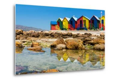 South Africa, Muizenberg, Little Bathhaus-Catharina Lux-Metal Print