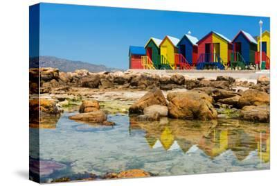 South Africa, Muizenberg, Little Bathhaus-Catharina Lux-Stretched Canvas Print