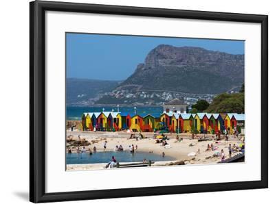 South Africa, Muizenberg, Beach, Little Bathhaus-Catharina Lux-Framed Photographic Print