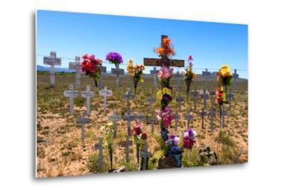 South Africa, Little Karoo, Memorial Crosses-Catharina Lux-Metal Print