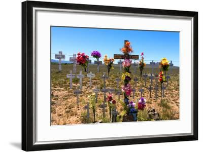South Africa, Little Karoo, Memorial Crosses-Catharina Lux-Framed Photographic Print