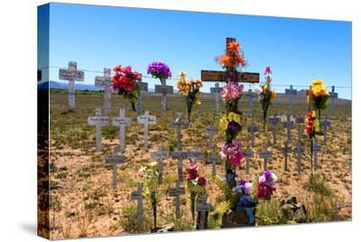 South Africa, Little Karoo, Memorial Crosses-Catharina Lux-Stretched Canvas Print