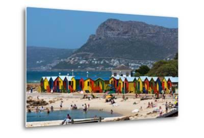 South Africa, Muizenberg, Beach, Little Bathhaus-Catharina Lux-Metal Print