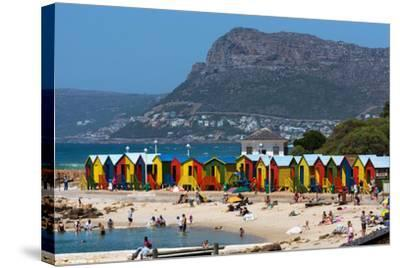 South Africa, Muizenberg, Beach, Little Bathhaus-Catharina Lux-Stretched Canvas Print