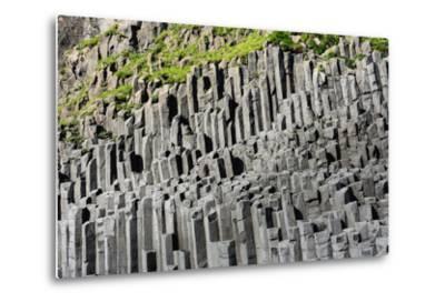 At the Black Sandy Beach of Reynisfjara, Basalt Colums-Catharina Lux-Metal Print