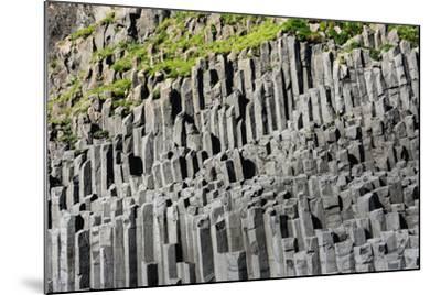At the Black Sandy Beach of Reynisfjara, Basalt Colums-Catharina Lux-Mounted Photographic Print