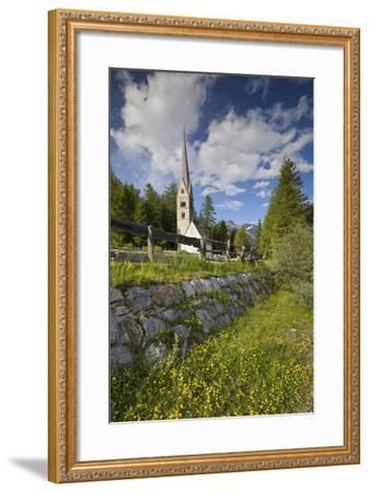 Church in Saint Jakob in Pfitsch, South Tirol, Italy-Rainer Mirau-Framed Photographic Print