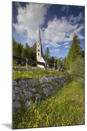 Church in Saint Jakob in Pfitsch, South Tirol, Italy-Rainer Mirau-Mounted Photographic Print