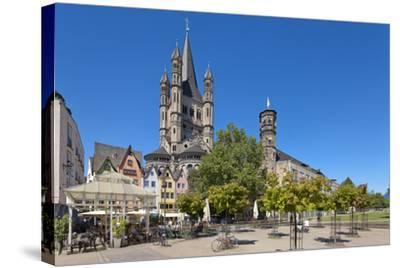 Europe, Germany, North Rhine-Westphalia, Cologne, Old Town-Chris Seba-Stretched Canvas Print