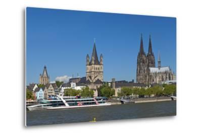 Europe, Germany, North Rhine-Westphalia, Cologne, Old Town-Chris Seba-Metal Print