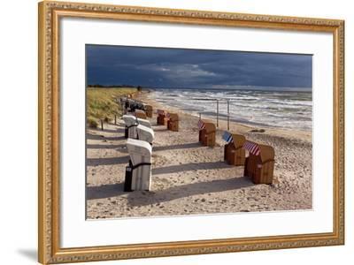 Baltic Sea Spa Wustrow, Beach, Beach Chairs-Catharina Lux-Framed Photographic Print