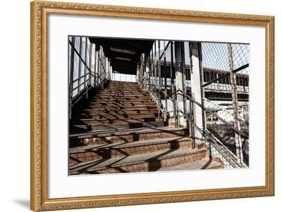 Berlin-Marzahn, City Railroad Station, Stairs-Catharina Lux-Framed Photographic Print
