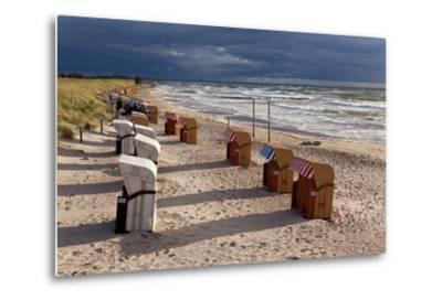 Baltic Sea Spa Wustrow, Beach, Beach Chairs-Catharina Lux-Metal Print
