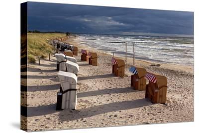 Baltic Sea Spa Wustrow, Beach, Beach Chairs-Catharina Lux-Stretched Canvas Print