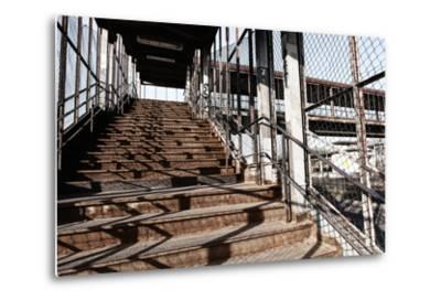 Berlin-Marzahn, City Railroad Station, Stairs-Catharina Lux-Metal Print