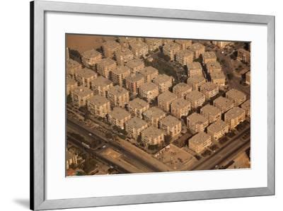 Egypt, Cairo, Aerial Shot, Apartment Blocks-Catharina Lux-Framed Photographic Print
