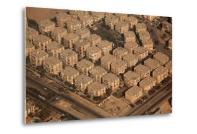 Egypt, Cairo, Aerial Shot, Apartment Blocks-Catharina Lux-Metal Print