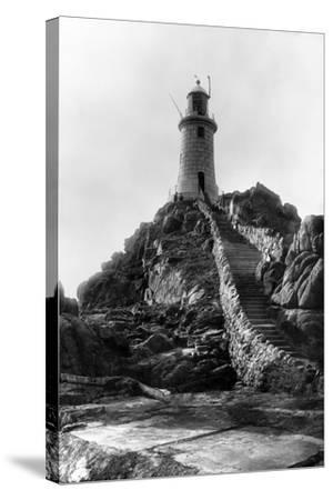 La Corbiere Lighthouse-B. M. Chambers-Stretched Canvas Print