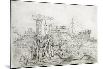 Scene in Shipyard-Thomas C. Skinner-Mounted Giclee Print