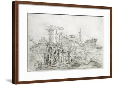 Scene in Shipyard-Thomas C. Skinner-Framed Giclee Print