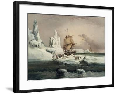 L'Astrolabe Caught in an Ice Pack, 9 February, 1838-Auguste Etienne Francois Mayer-Framed Giclee Print