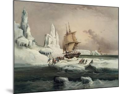 L'Astrolabe Caught in an Ice Pack, 9 February, 1838-Auguste Etienne Francois Mayer-Mounted Giclee Print
