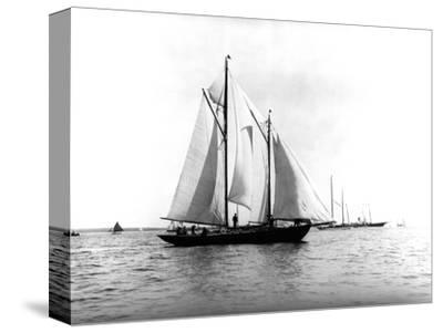 Trade Wind in the Bermuda Race-Edwin Levick-Stretched Canvas Print