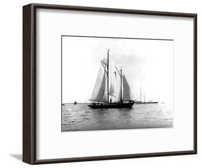 Trade Wind in the Bermuda Race-Edwin Levick-Framed Photographic Print