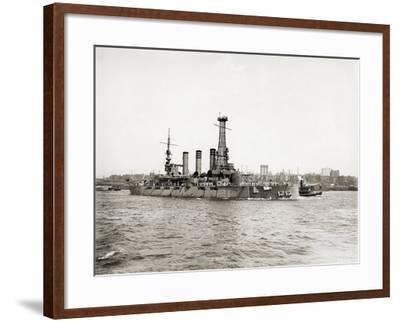 Uss Rhode Island (BB-17)--Framed Photographic Print