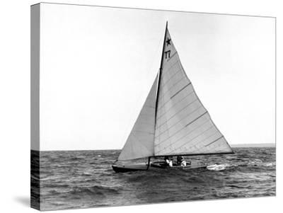 Star Class Boat Fejo #77-Edwin Levick-Stretched Canvas Print
