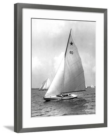 Star Class Boat Themis in Race of 1922-Edwin Levick-Framed Photographic Print